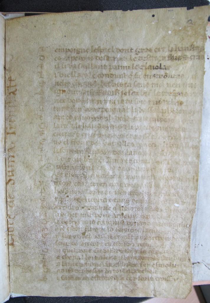 """Cod. ser. n. 242 fol. 2r mit der Aufschrift """"Liber de sanctissima trinitate"""""""