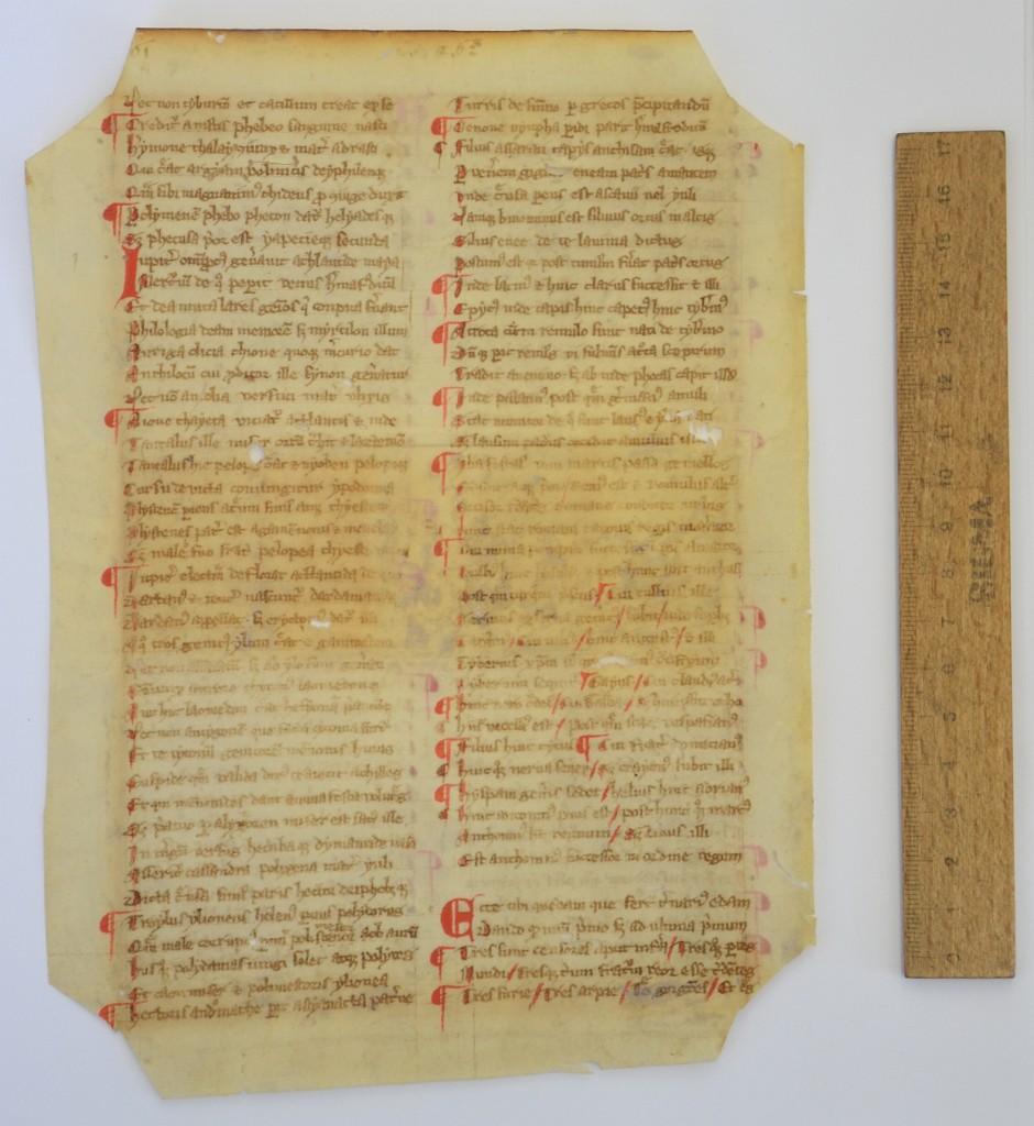 Linz, Oberösterreichische Landesbibliothek, Cod. 589 verso (Konrad von Mure, Novus Grecismus IX, 1089-1169)