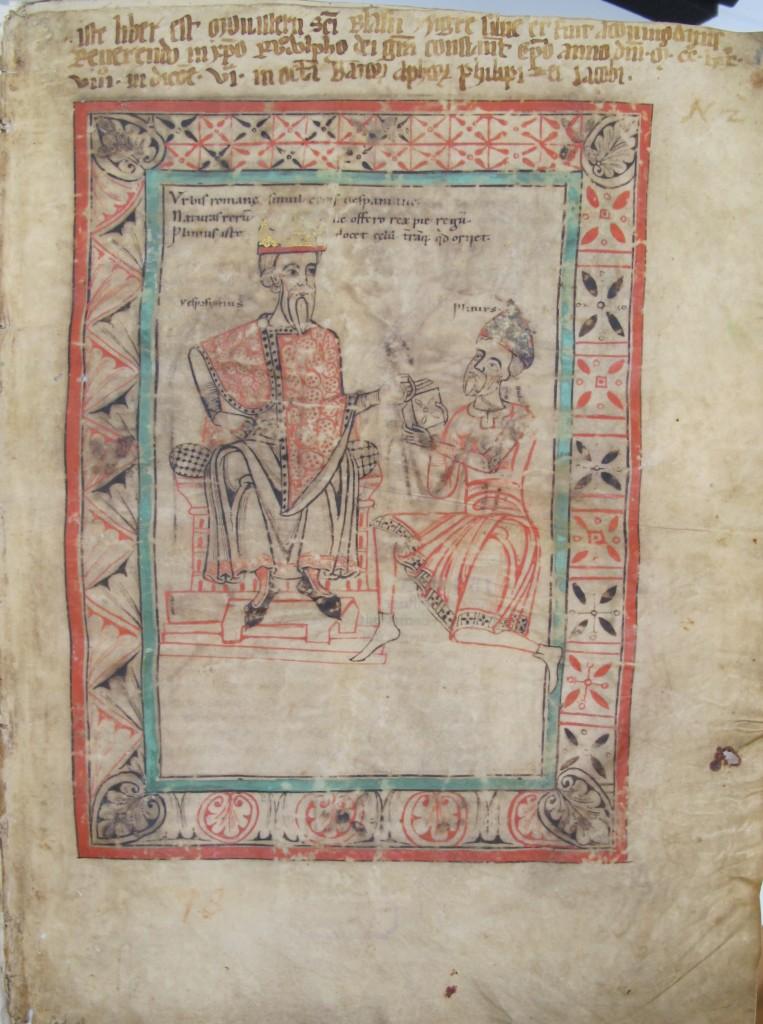 Besitzvermerk des Klosters St. Blasien mit Verleihvermerk an Bischof Rudolf von Konstanz von 1278.