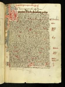 """Graz UB 347, Bl. 68r: Incipit des """"Principium biblicum"""" des Heinrich von Köln OP"""