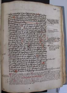 """ÖNB Cod. 3967, Bl. 357r: Die """"marginalia"""" wurden zu unterschiedlichen Zeitpunkten hinzugefügt, wie die Verwendung verschiedener Tinten zeigt"""